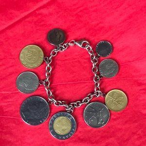 VTG Italian Lira coin bracelet